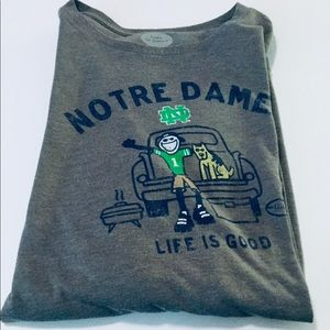 Life Is Good Notre Dame Football Cool Tee XL